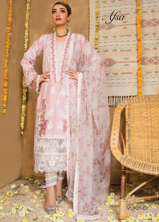 Afreen Viva by Anaya Embroidered Lawn Suits Unstitched 3 Piece AKC21A 07 Afsa - Luxury Collection