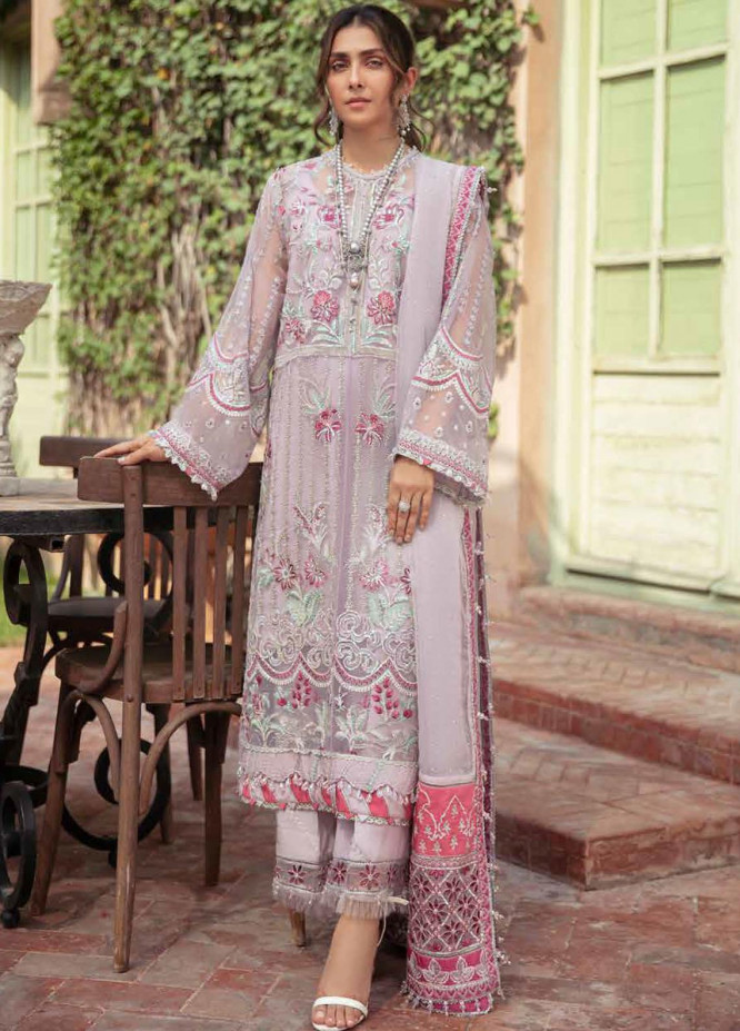 Afrozeh Embroidered Organza Suits Unstitched 3 Piece AF21HW ASHNA - Formals Wedding  Collection