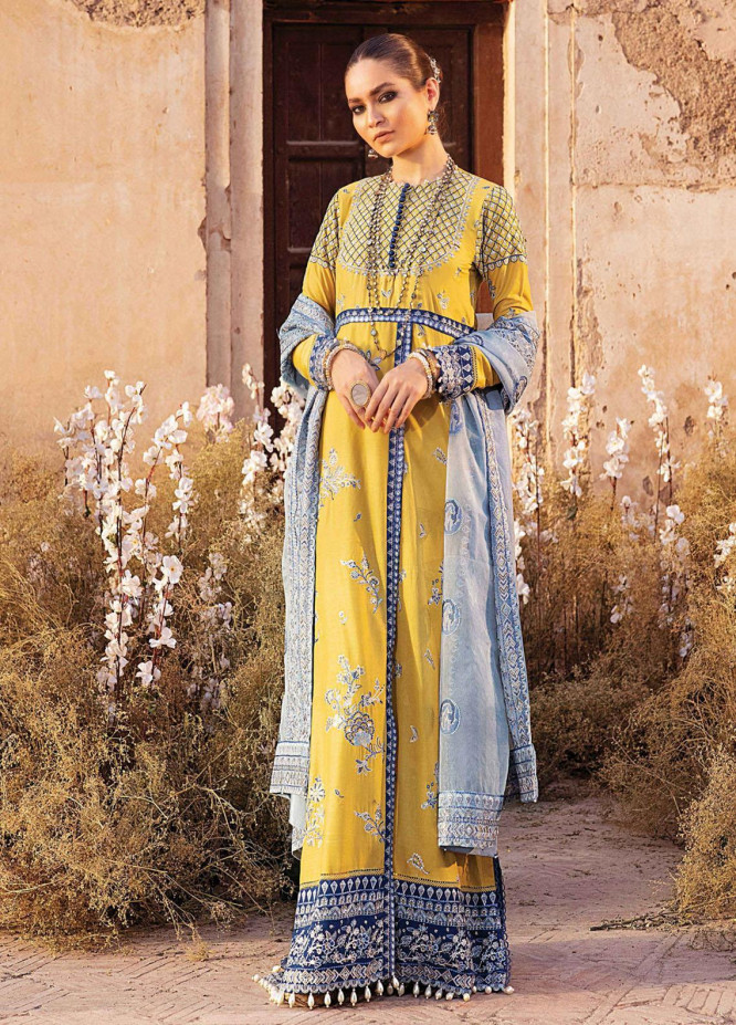 Afrozeh Embroidered Lawn Suits Unstitched 3 Piece AF21L 04 Romana - Luxury Collection