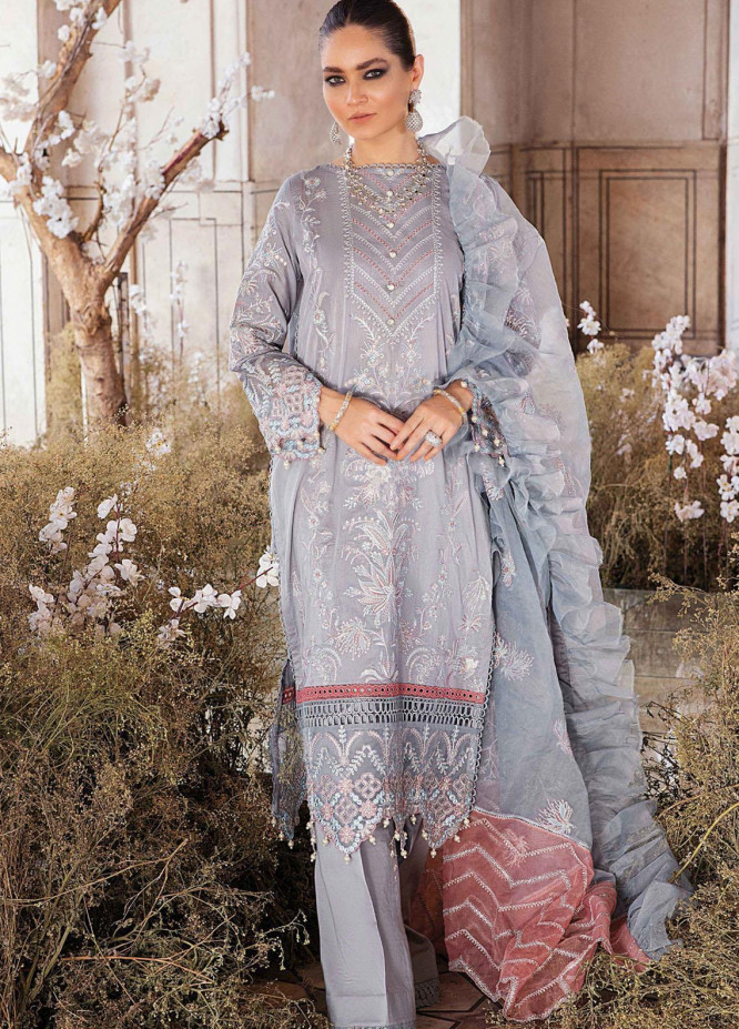 Afrozeh Embroidered Lawn Suits Unstitched 3 Piece AF21L 06 Sequoiat - Luxury Collection