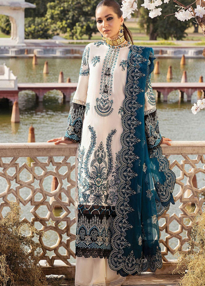 Afrozeh Embroidered Lawn Suits Unstitched 3 Piece AF21L 08 Zephyr - Luxury Collection