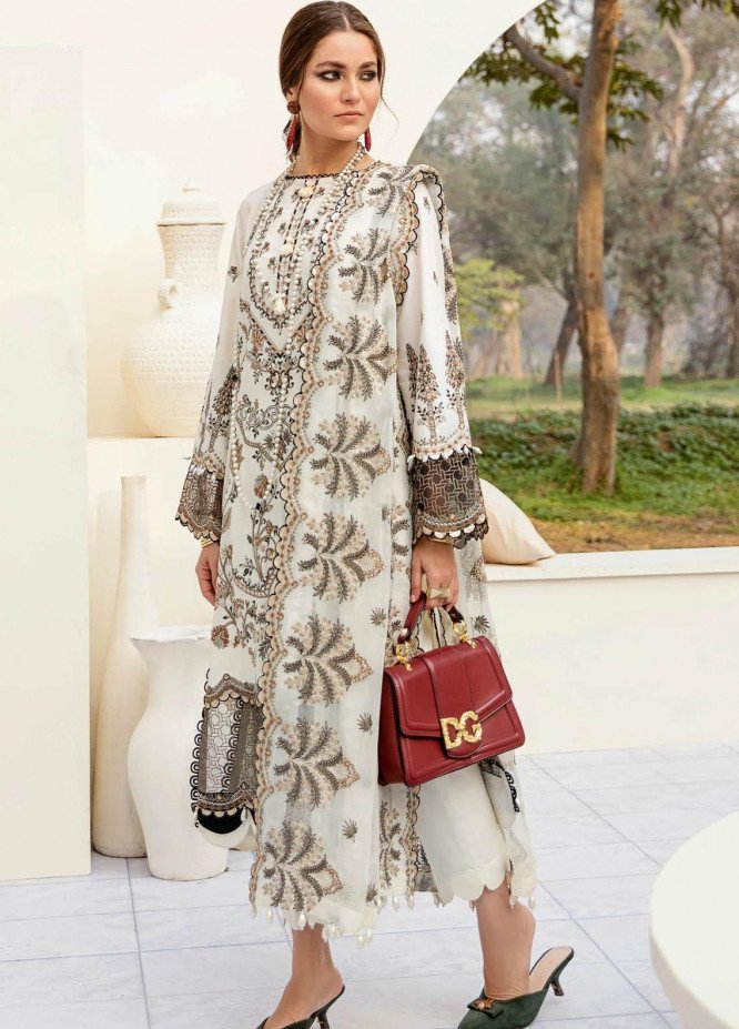 Afrozeh Embroidered Lawn Suits Unstitched 3 Piece AF21SS 04-POIGNANT LILY - Summer Collection