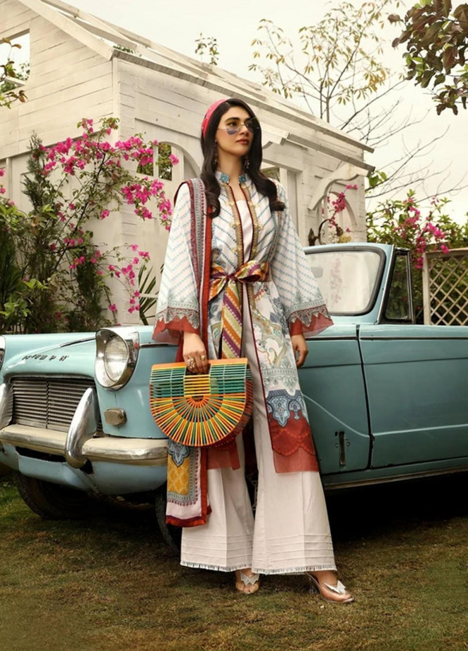 Aghaaz By Nuriyaa Printed Lawn Suits Unstitched 3 Piece NR21A ALYANA B - Summer Collection