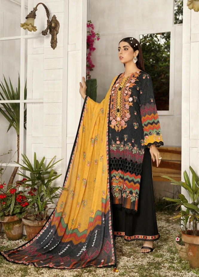 Aghaaz By Nuriyaa Embroidered Lawn Suits Unstitched 3 Piece NR21A AYLIN A - Summer Collection