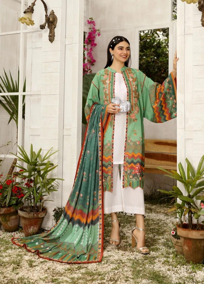 Aghaaz By Nuriyaa Embroidered Lawn Suits Unstitched 3 Piece NR21A AYLIN B - Summer Collection