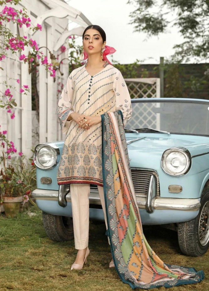 Aghaaz By Nuriyaa Printed Lawn Suits Unstitched 3 Piece NR21A EMEL B - Summer Collection