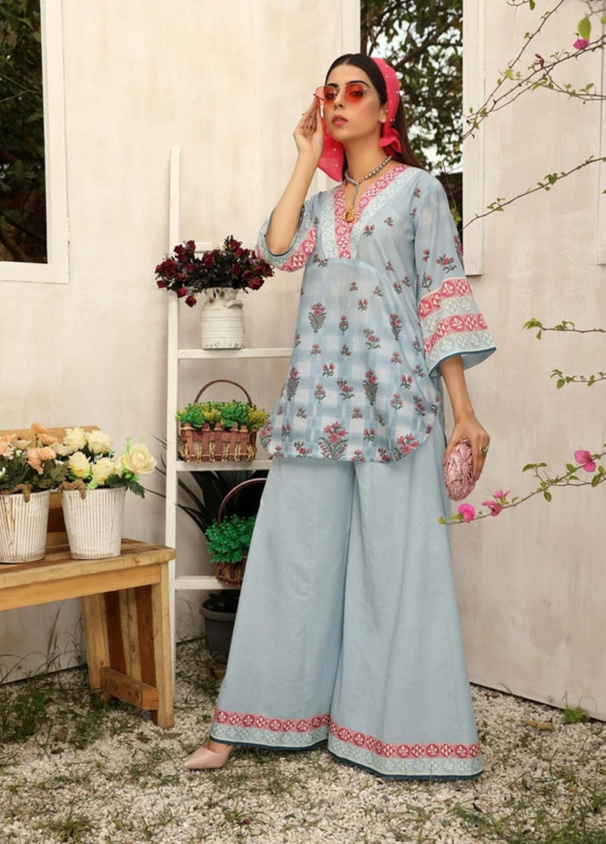 Aghaaz By Nuriyaa Printed Lawn Suits Unstitched 2 Piece NR21A FIRUZEH A - Summer Collection