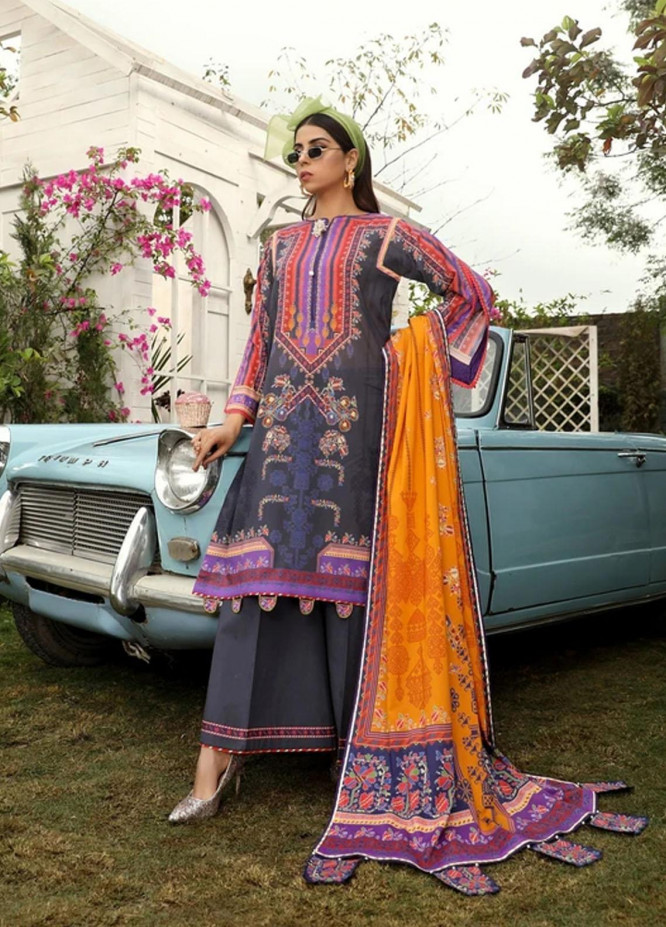 Aghaaz By Nuriyaa Printed Lawn Suits Unstitched 3 Piece NR21A IGLIKA A - Summer Collection