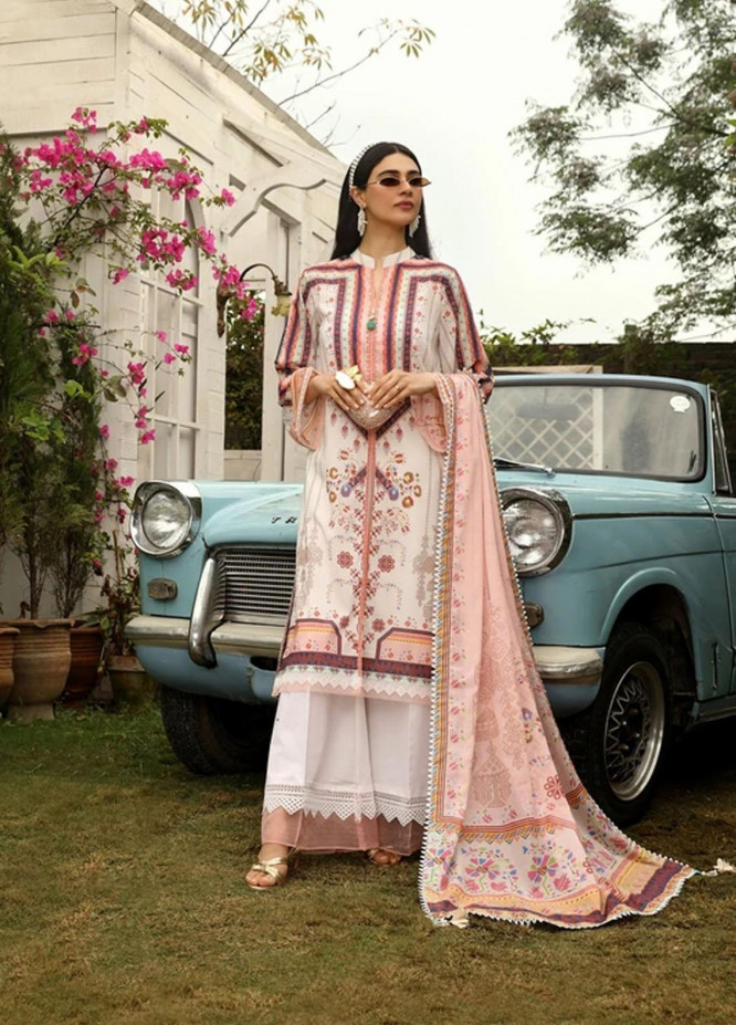 Aghaaz By Nuriyaa Printed Lawn Suits Unstitched 3 Piece NR21A IGLIKA B - Summer Collection