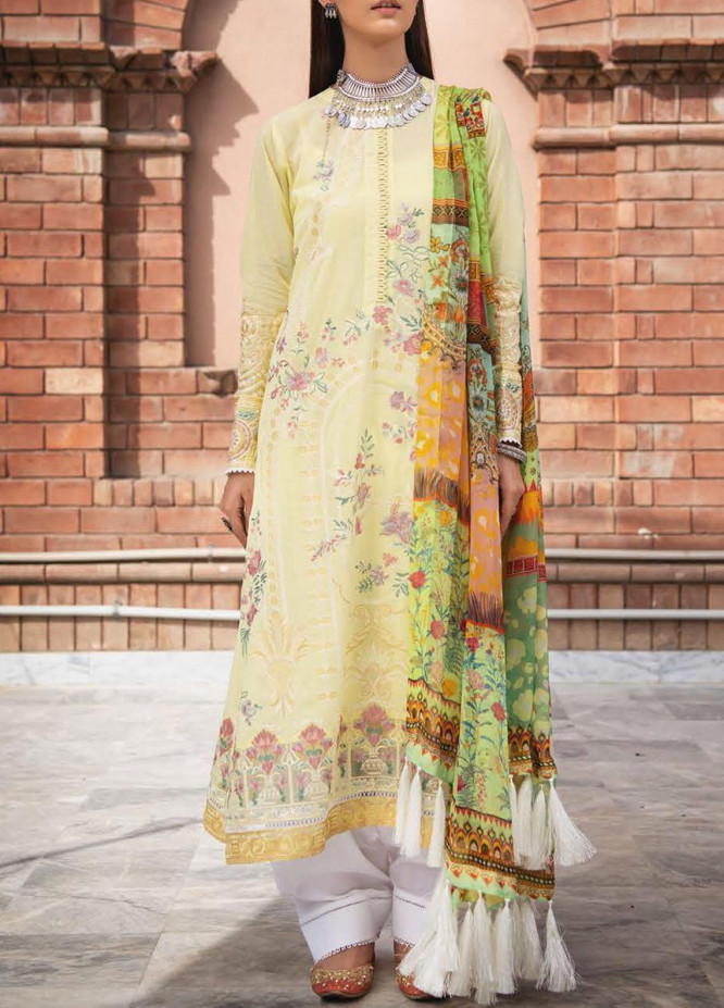 AIK Atelier Embroidered Dobby Suits Unstitched 3 Piece AIK21-L2 05 - Luxury Collection