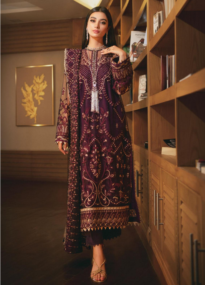 AIK Atelier Embroidered Organza Suits Unstitched 3 Piece AIK21WD 01 - Wedding Collection