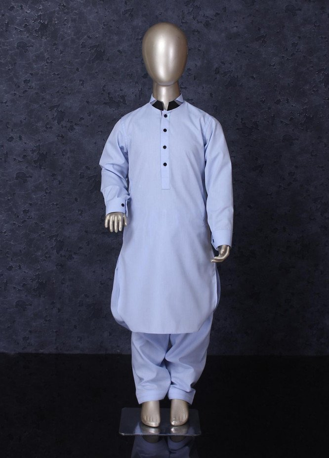 Aizaz Zafar Cotton Formal Kameez Shalwar for Boys -  255 Sky Blue