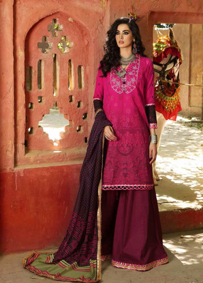 Bandhani By Al Zohaib Embroidered Lawn Suits Unstitched 3 Piece AZ21B 07 Mehak - Summer Collection