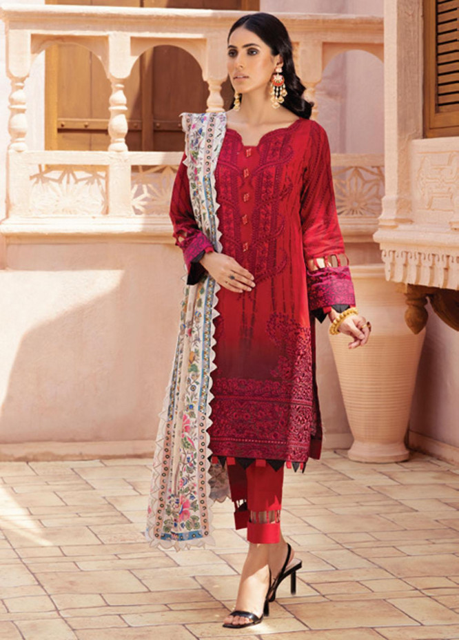 Festive Hues By Al Zohaib Embroidered Lawn Suits Unstitched 3 Piece AZ21-FH2 01 - Summer Collection