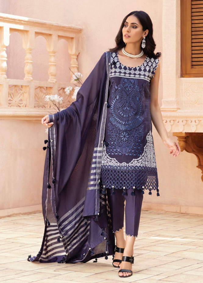 Festive Hues By Al Zohaib Embroidered Lawn Suits Unstitched 3 Piece AZ21-FH2 02 - Summer Collection