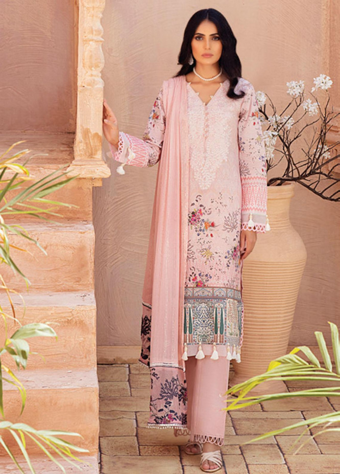 Festive Hues By Al Zohaib Embroidered Lawn Suits Unstitched 3 Piece AZ21-FH2 03 - Summer Collection