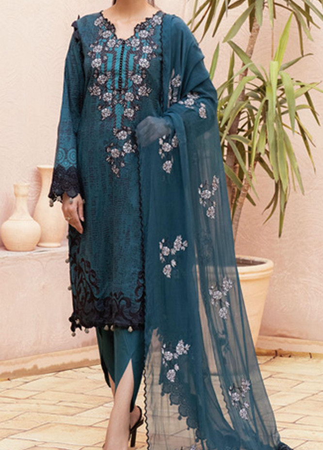 Festive Hues By Al Zohaib Embroidered Lawn Suits Unstitched 3 Piece AZ21-FH2 04A - Summer Collection