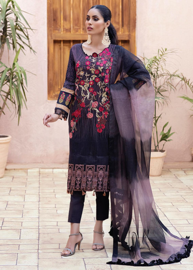 Festive Hues By Al Zohaib Embroidered Lawn Suits Unstitched 3 Piece AZ21-FH2 06 - Summer Collection