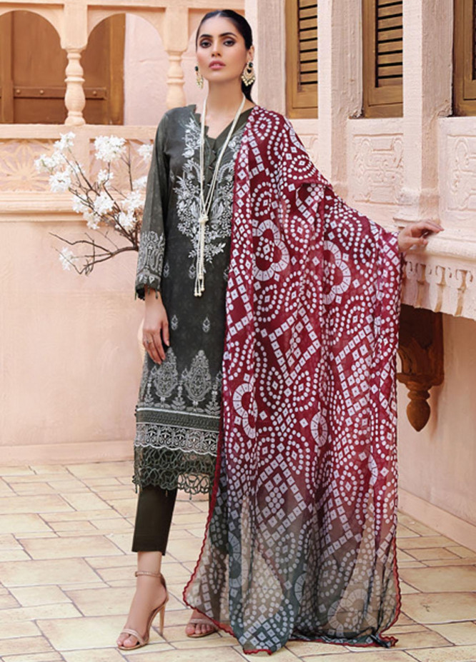 Festive Hues By Al Zohaib Embroidered Lawn Suits Unstitched 3 Piece AZ21-FH2 07 - Summer Collection
