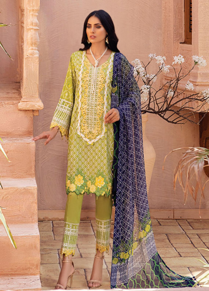 Festive Hues By Al Zohaib Embroidered Lawn Suits Unstitched 3 Piece AZ21-FH2 09 - Summer Collection