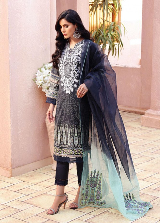Festive Hues By Al Zohaib Embroidered Lawn Suits Unstitched 3 Piece AZ21-FH2 10 - Summer Collection