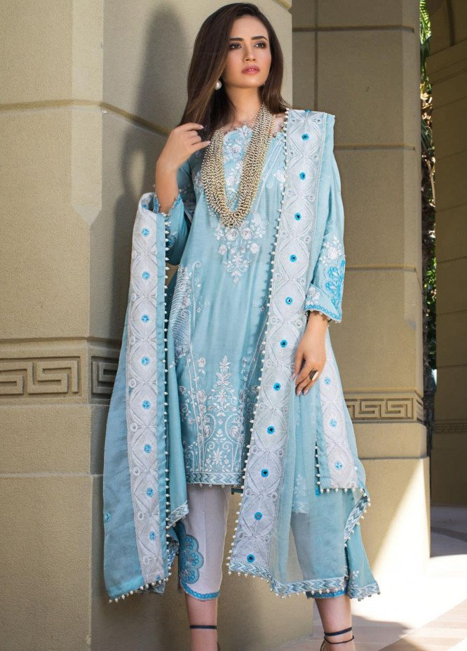 Mahiymaan By Al Zohaib Embroidered Lawn Suits Unstitched 3 Piece MAH21AZ D-06 - Summer Collection