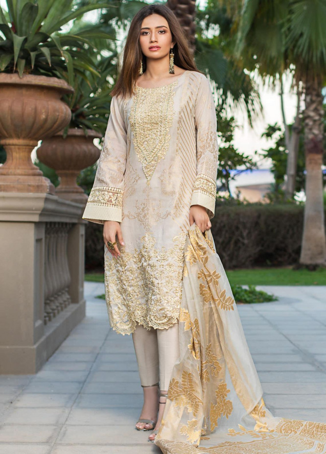Mahiymaan By Al Zohaib Embroidered Lawn Suits Unstitched 3 Piece MAH21AZ D-12 - Summer Collection