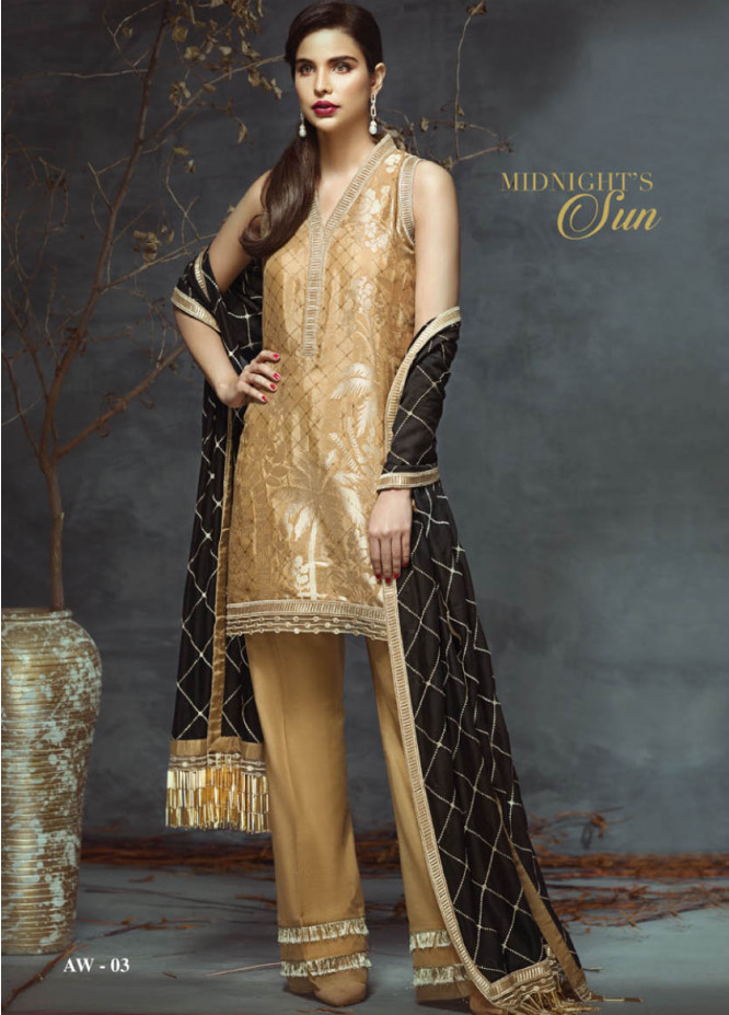 Anaya by Kiran Chaudhry Embroidered Linen Unstitched 3 Piece Suit AL17W 03