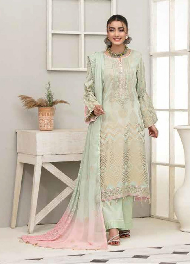 Alesia By Riaz Arts Embroidered Lawn Suits Unstitched 3 Piece RA21A 1234 - Summer Collection