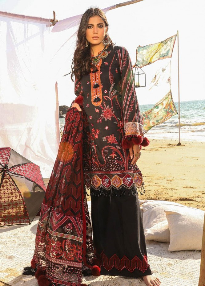 Alif by AJR Couture Embroidered Lawn Suits Unstitched 3 Piece AJR21A ALL-05 ASTER - Summer Collection