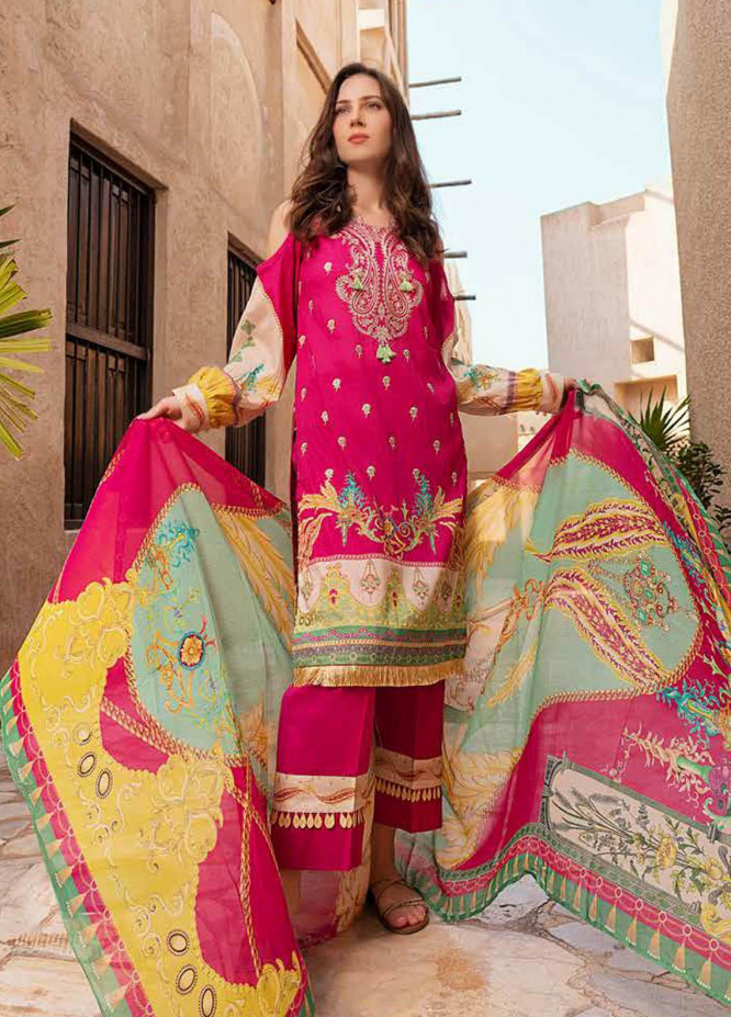 Alyssa by Banafsheh Embroidered Lawn Suits Unstitched 3 Piece BF21AL D-03 - Luxury Summer Collection