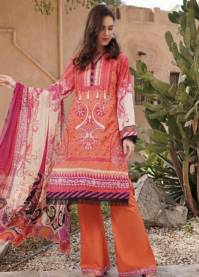 Alyssa by Banafsheh Embroidered Lawn Suits Unstitched 3 Piece BF21AL D-06 - Luxury Summer Collection