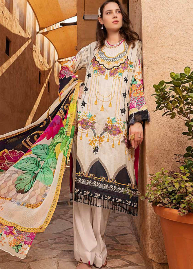 Alyssa by Banafsheh Embroidered Lawn Suits Unstitched 3 Piece BF21AL D-07 - Luxury Summer Collection