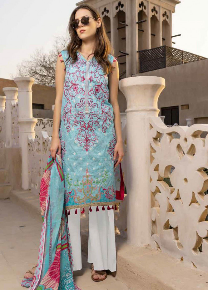 Alyssa by Banafsheh Embroidered Lawn Suits Unstitched 3 Piece BF21AL D-08 - Luxury Summer Collection