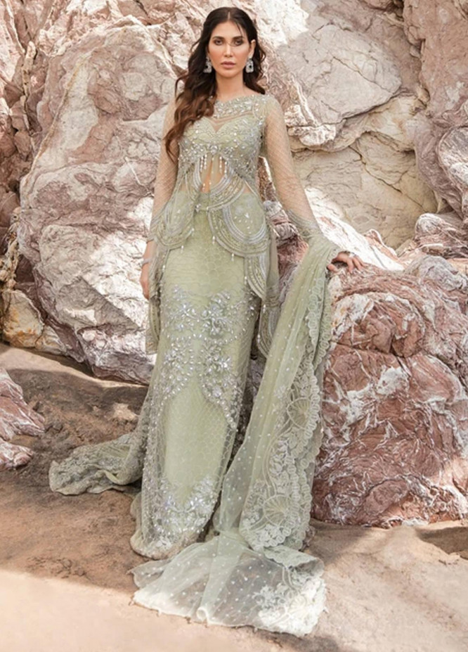 Amiraa by Reign Embroidered Net Suits Unstitched 3 Piece RGN21AM RN-06 ZAINA-B - Luxury Collection