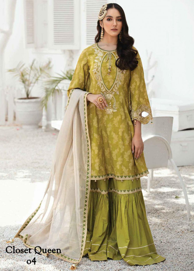 Anamta by Mahwish Ishtiaq Embroidered Lawn Suits Unstitched 3 Piece ANT21E 04 Closet Queen - Luxury Collection