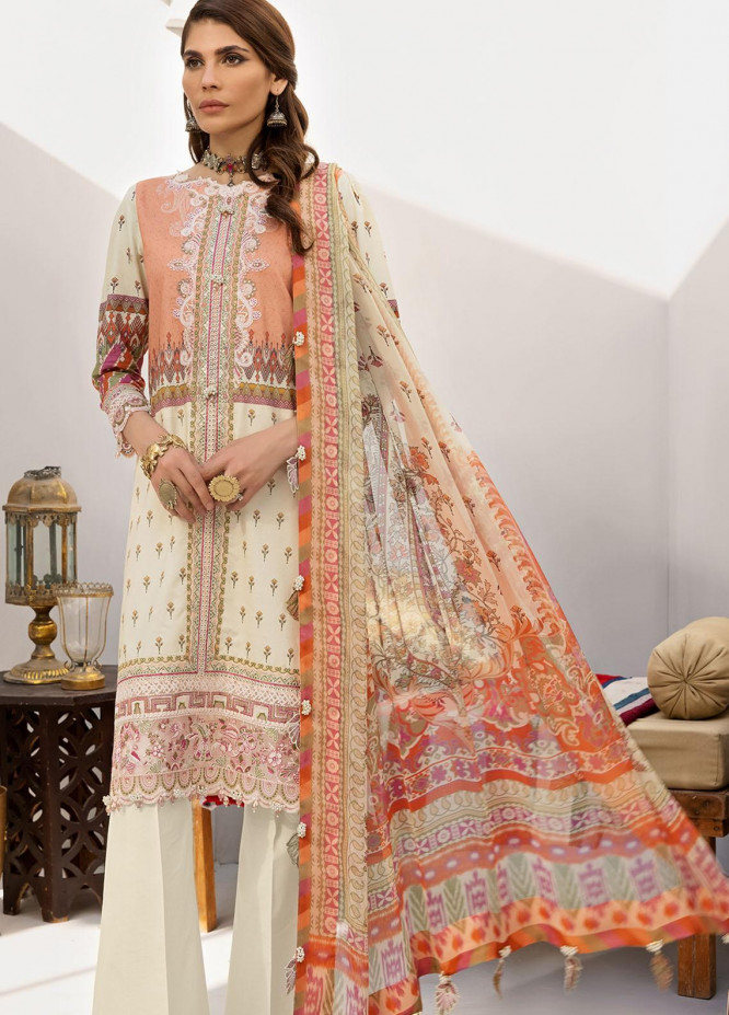 Anaya By Kiran Chaudhry Embroidered Lawn Suits Unstitched 3 Piece AKC21E AE21-06 RAYA - Luxury Collection