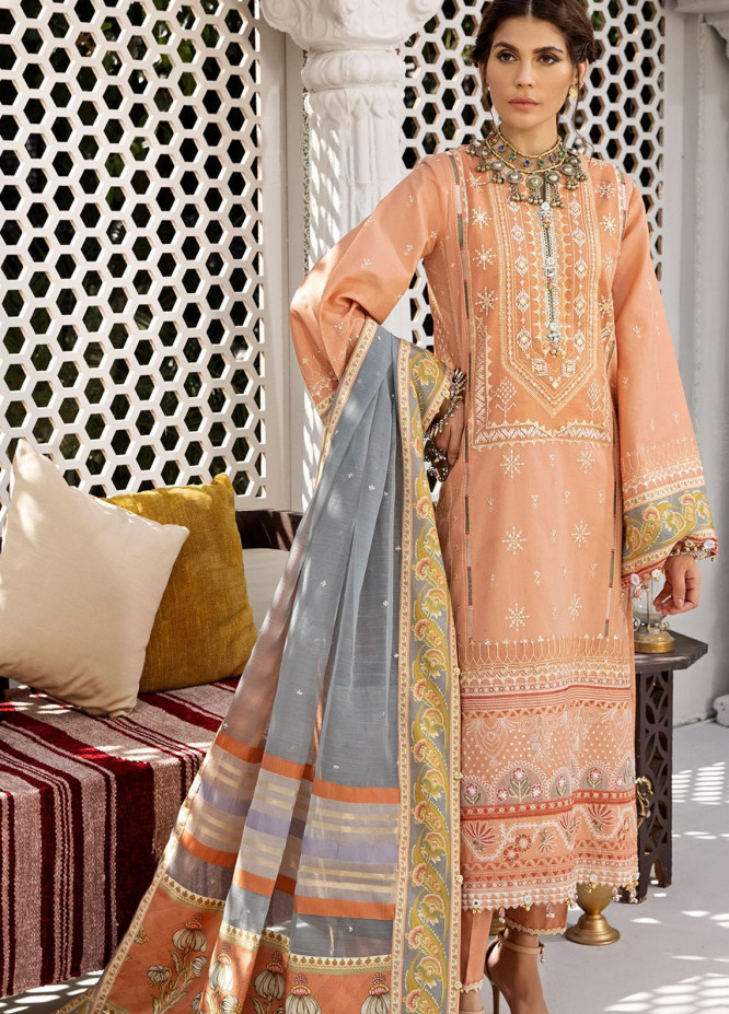 Anaya By Kiran Chaudhry Embroidered Lawn Suits Unstitched 3 Piece AKC21E AE21-08 AYLA - Luxury Collection