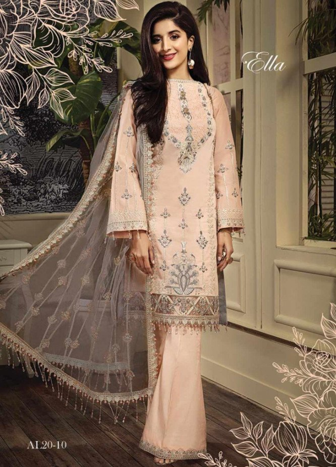 Anaya By Kiran Chaudhry Embroidered Lawn Unstitched 3 Piece Suit AKC20L 10 ELLA - Luxury Collection
