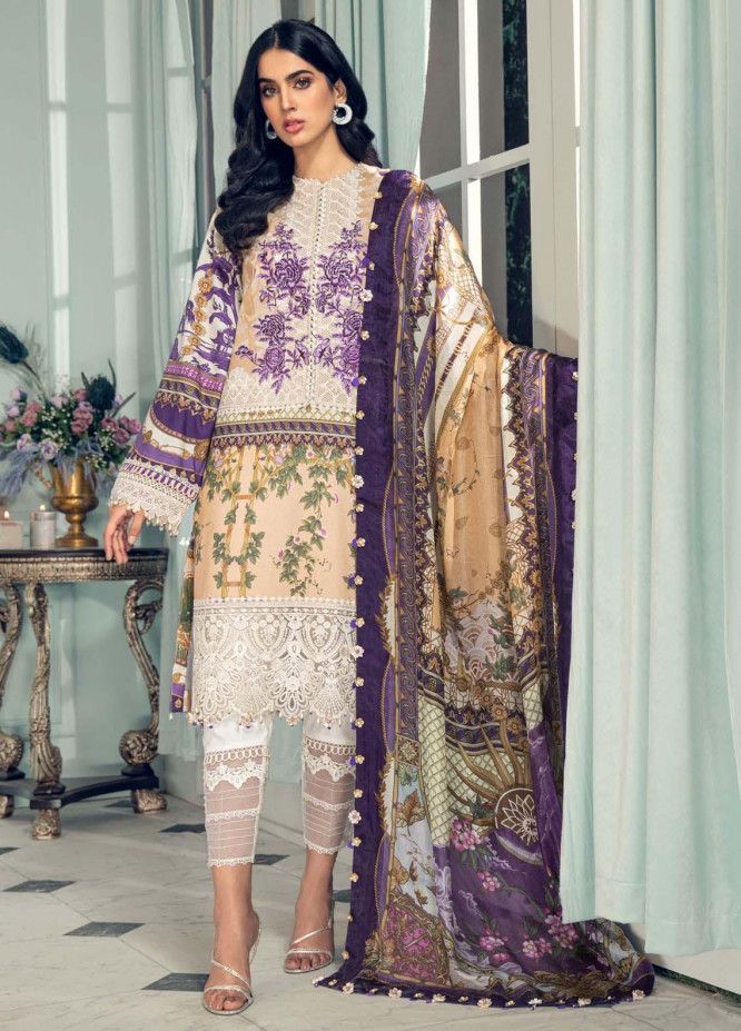 Anaya By Kiran Chaudhry Embroidered Lawn Suits Unstitched 3 Piece AK21LL AL21-02-B ALESIA - Summer Collection