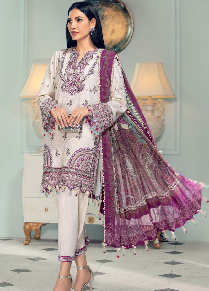 Anaya By Kiran Chaudhry Embroidered Lawn Suits Unstitched 3 Piece AK21LL AL21-04-A NATALIE - Summer Collection