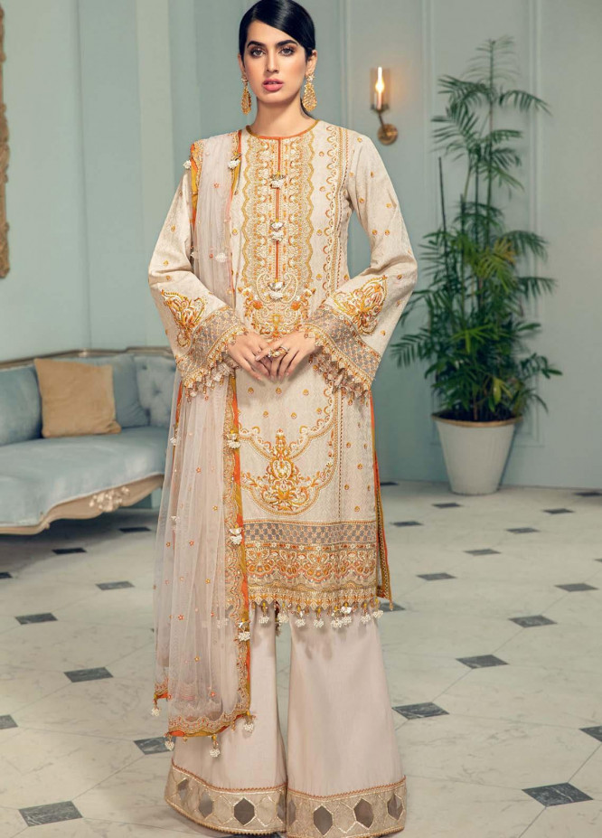 Anaya By Kiran Chaudhry Embroidered Jacquard Suits Unstitched 3 Piece AK21LL AL21-05-B KLARA - Summer Collection