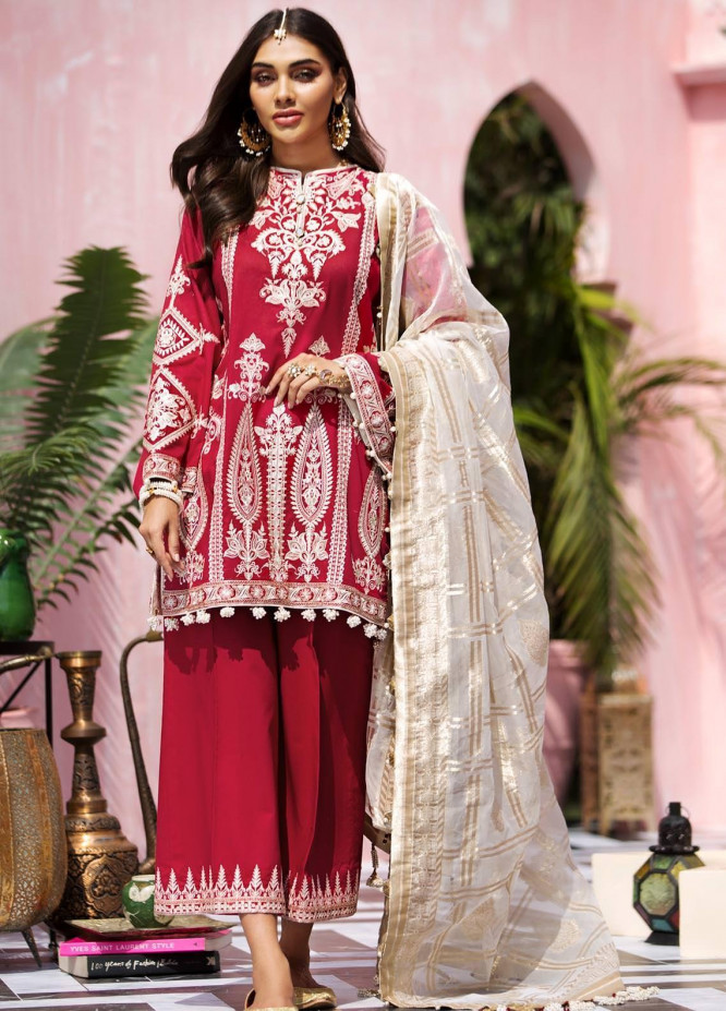 Anaya By Kiran Chaudhry Embroidered Lawn Suits Unstitched 3 Piece AK21KR 01-SURTI - Summer Collection
