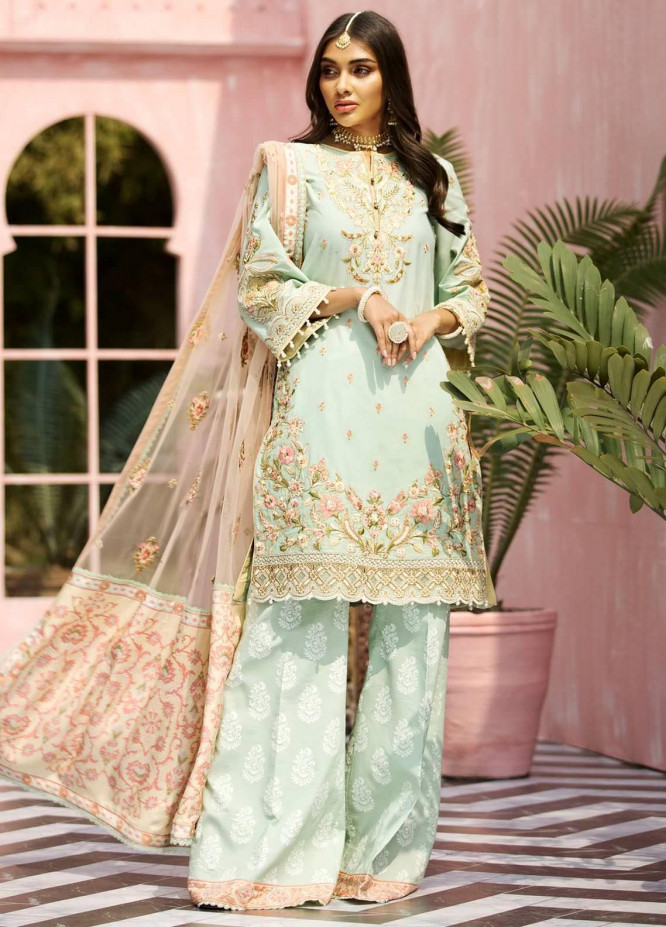 Anaya By Kiran Chaudhry Embroidered Lawn Suits Unstitched 3 Piece AK21KR 02-A DINA - Summer Collection