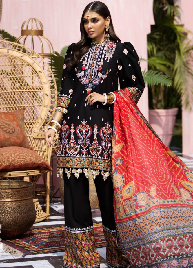Anaya By Kiran Chaudhry Embroidered Lawn Suits Unstitched 3 Piece AK21KR 03-ZHALEY - Summer Collection