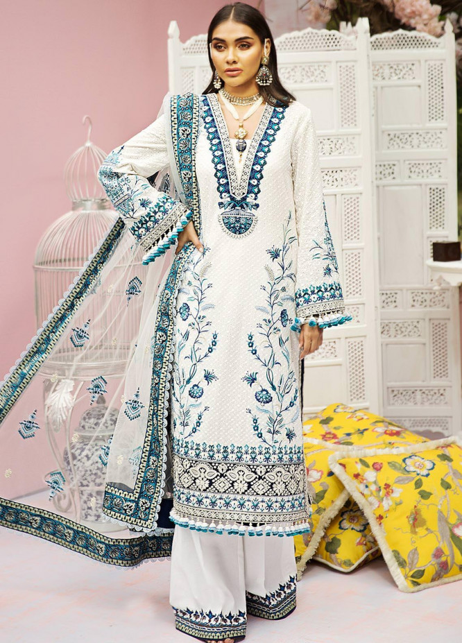 Anaya By Kiran Chaudhry Embroidered Lawn Suits Unstitched 3 Piece AK21KR 05-ESFIR - Summer Collection