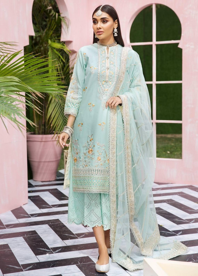Anaya By Kiran Chaudhry Embroidered Lawn Suits Unstitched 3 Piece AK21KR 07-A LALEH - Summer Collection