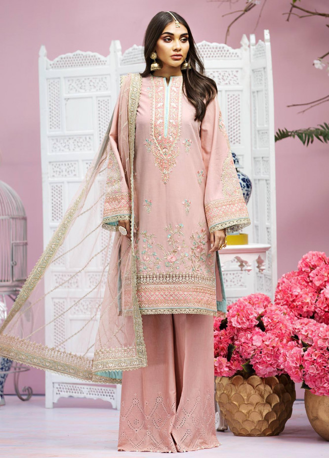 Anaya By Kiran Chaudhry Embroidered Lawn Suits Unstitched 3 Piece AK21KR 07-B MYRA - Summer Collection