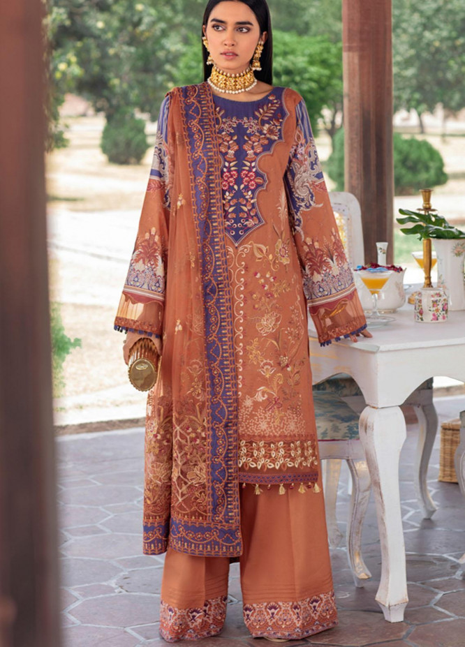 Andaaz by Ramsha Embroidered Lawn Suits Unstitched 3 Piece RSH21A 102 - Luxury Collection