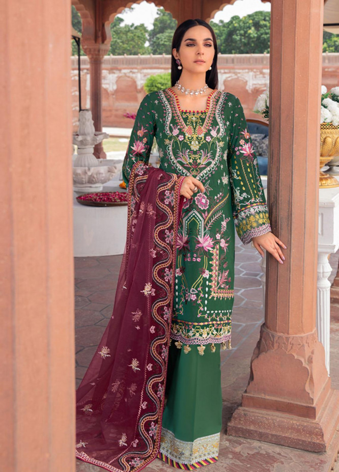 Andaaz by Ramsha Embroidered Lawn Suits Unstitched 3 Piece RSH21A 103 - Luxury Collection
